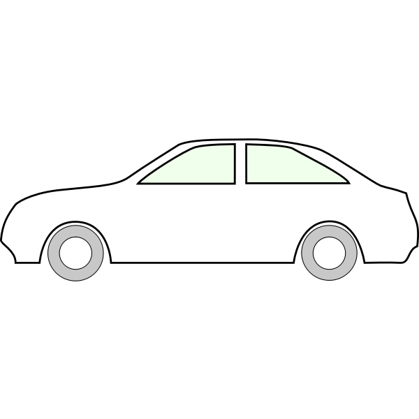 Car outline vector clip art