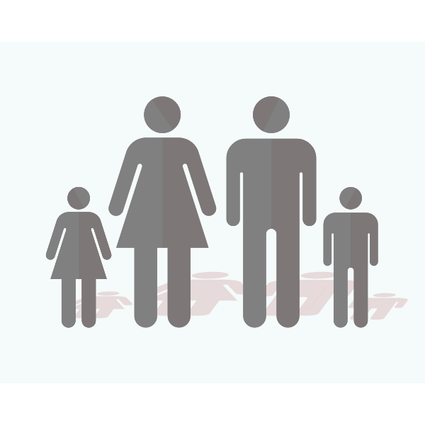 Family sign silhouette vector image