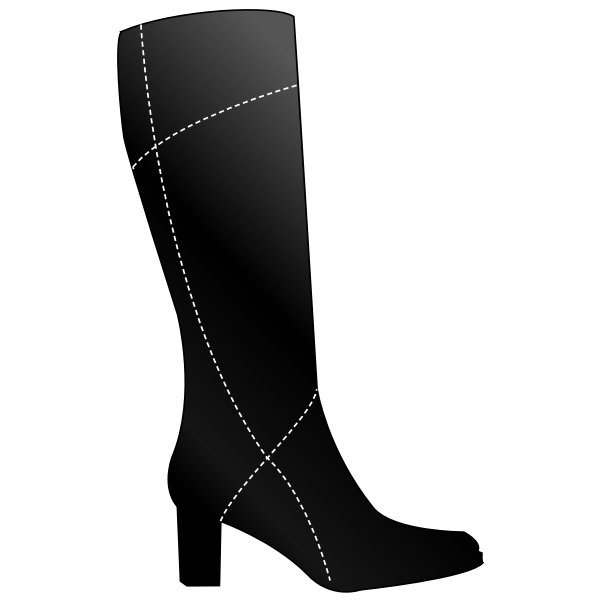 Vector graphics of simple boots for women