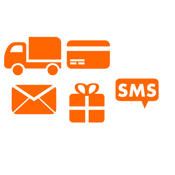 Selection of delivery icons vector drawing
