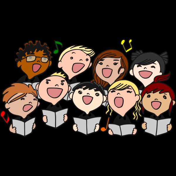 Children's choir vector image