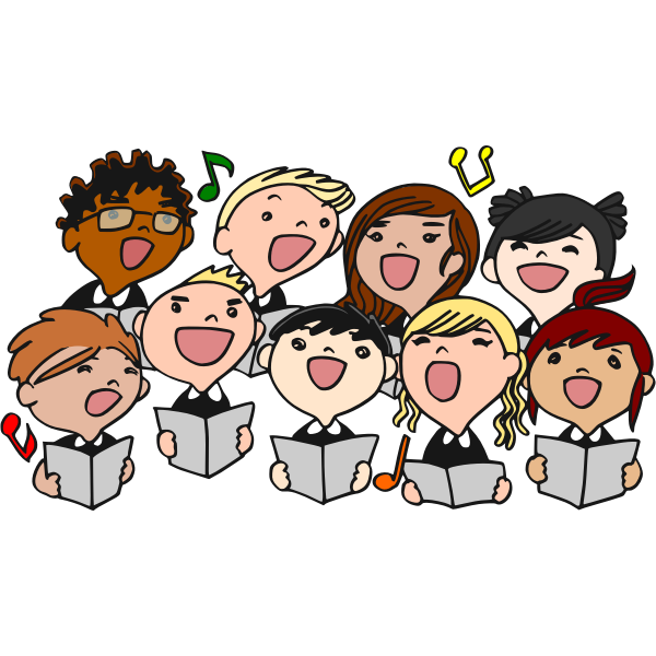 Children's choir vector image