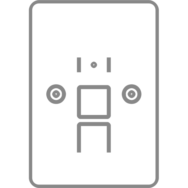 Single Faceplate