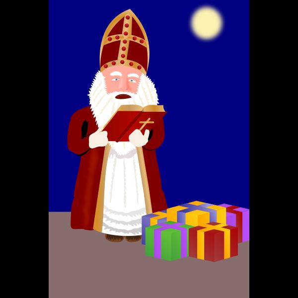 Sinterklaas with presents vector image