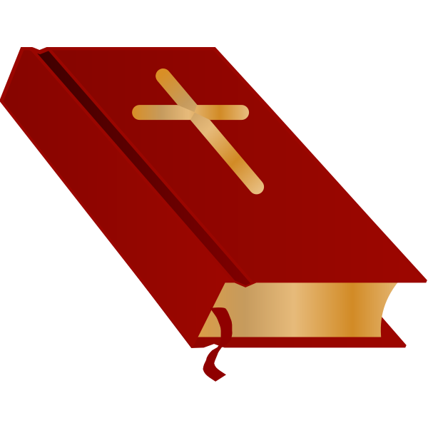 Bible closed vector illustration