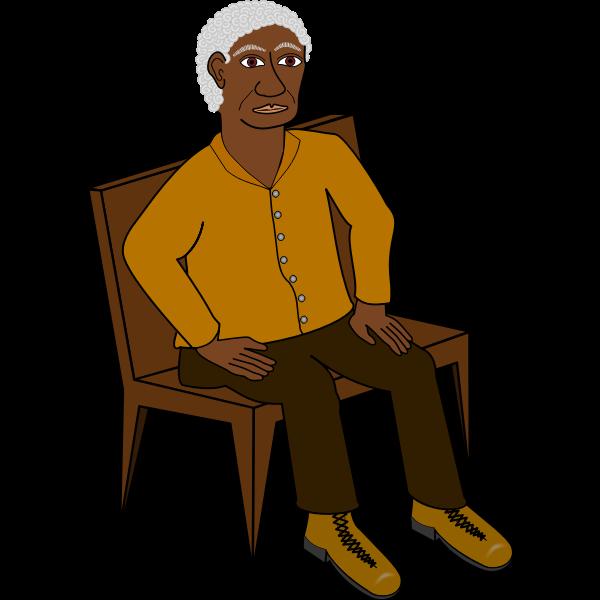 Sitting wise man