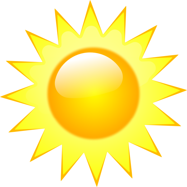 Vector image of weather forecast color symbol for sunny sky