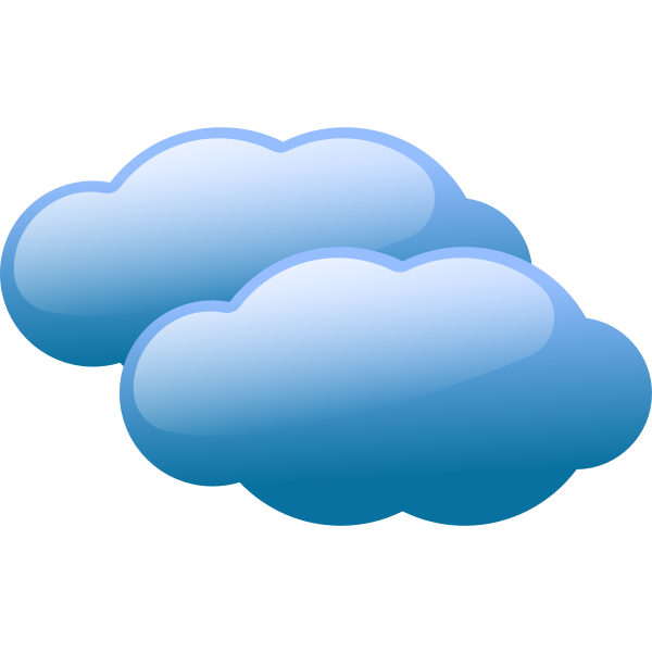 Vector illustration of weather forecast color symbol for cloudy sky