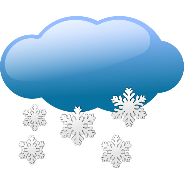 Dark blue weather forecast icon for snow vector illustration