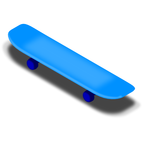 Skateboarding vectorized vector drawing