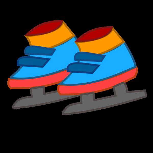 Figure skates vector clip art