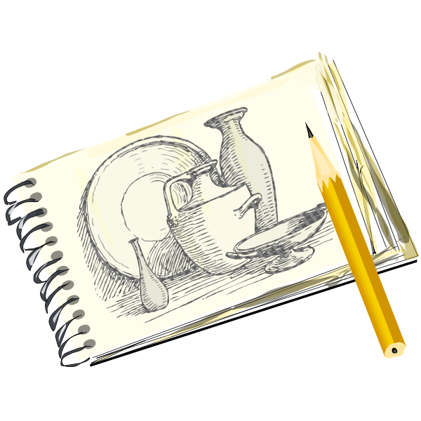 Sketchpad with Still Life, Unfilled