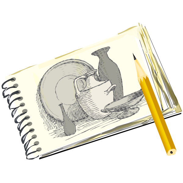 Sketchpad with Still Life
