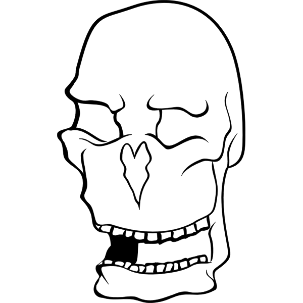 Clip art of old man's skull