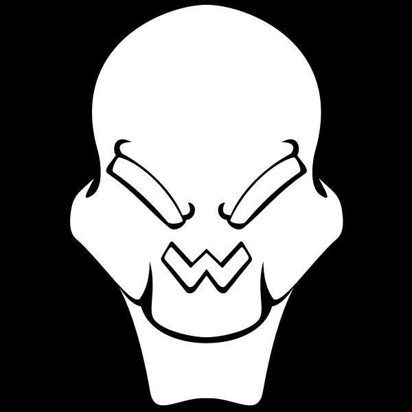 Extraterrestrial's skull