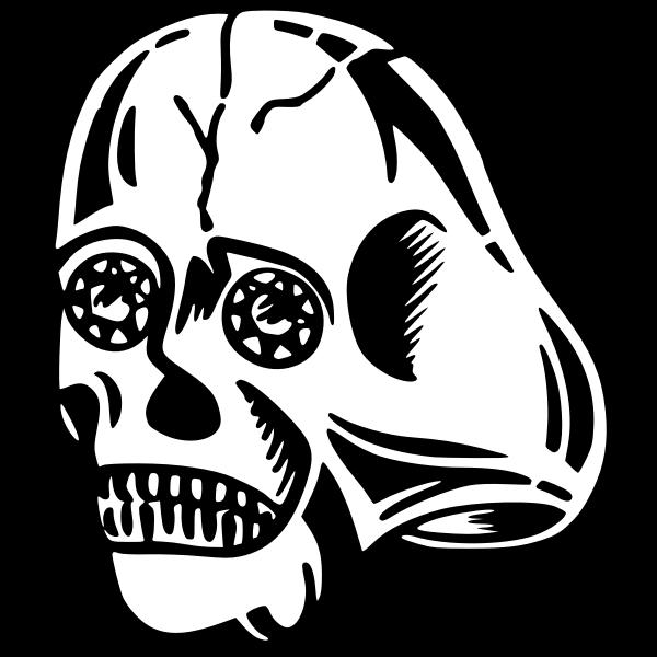 Alien skull image