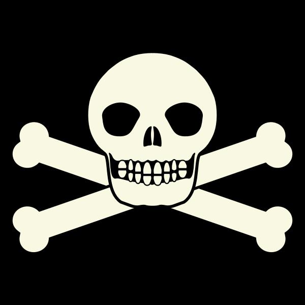 Traditional pirates flag skull vector clip art