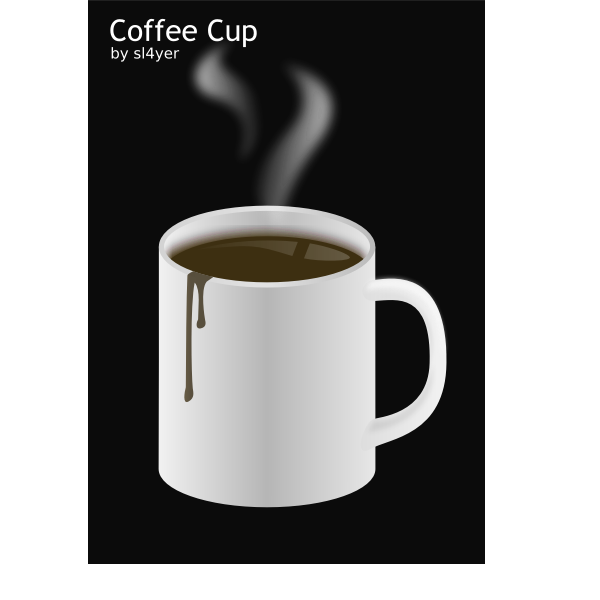 Vector image of a cup of hot coffee