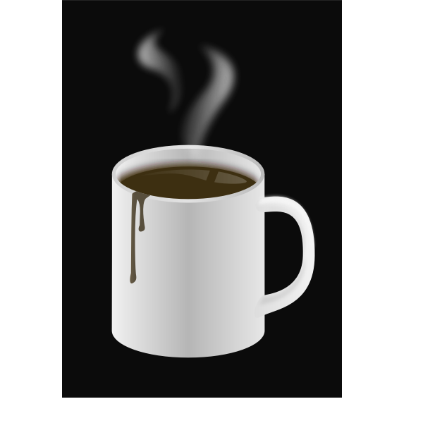 Cup of hot coffee vector drawing