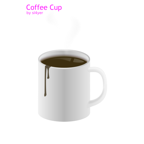Vector image of coffee in cup