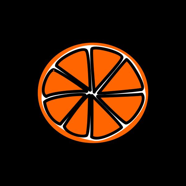 Sliced orange vector image