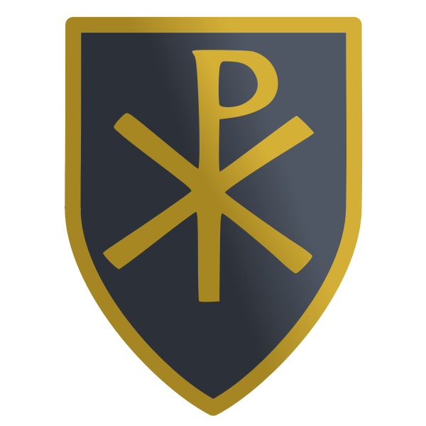 Vector clip art of shield with the christian labarum sign