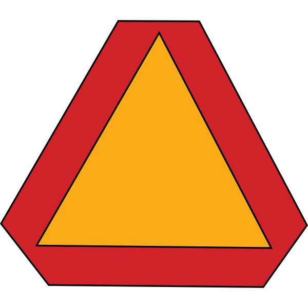 Slow moving vehicle sign vector illustration