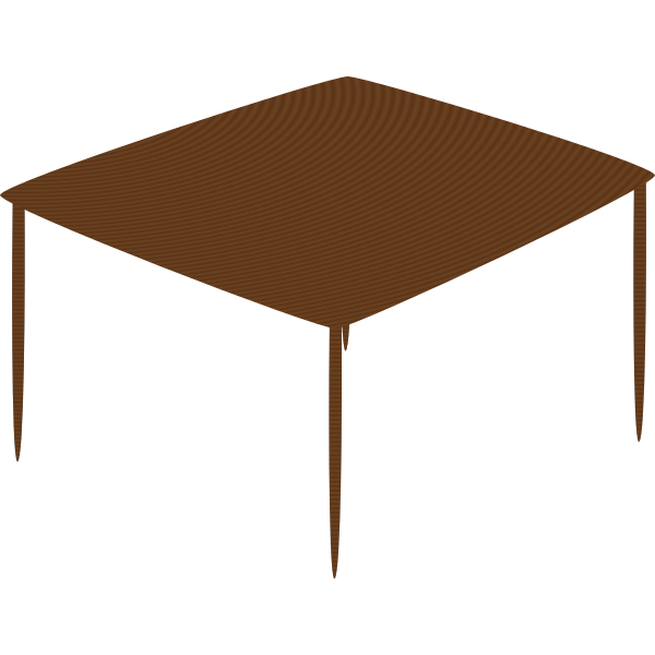 Small table vector drawing