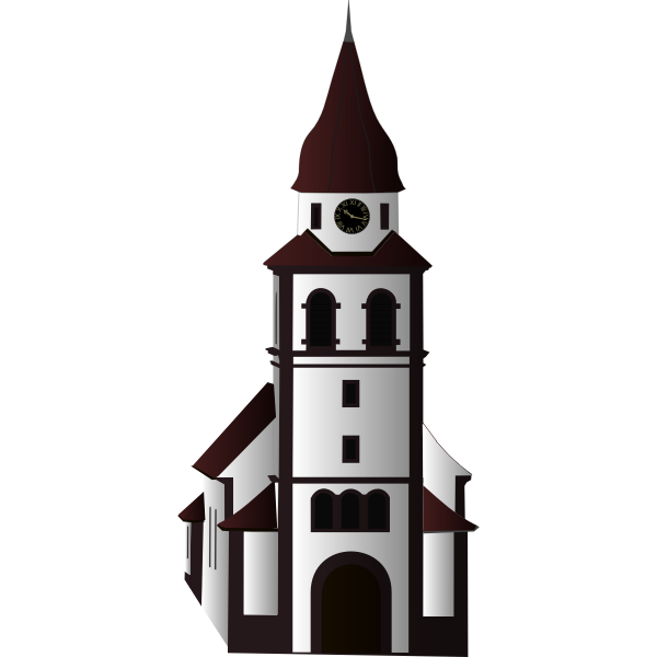 Vector image of chuch