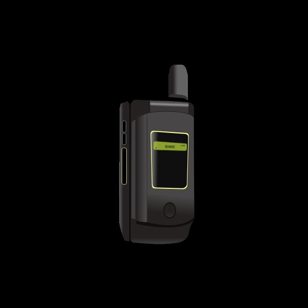 Mobile flip phone vector image