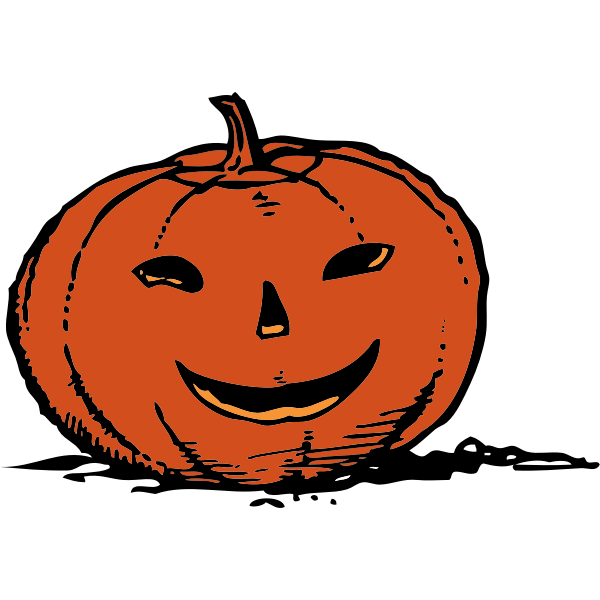Scary smiling Jack-o-lantern vector graphics