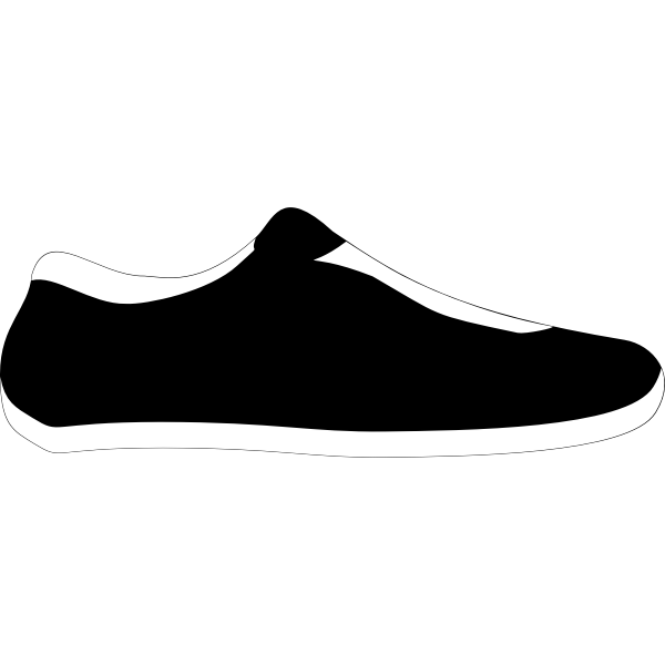 Black and white sneaker clip art