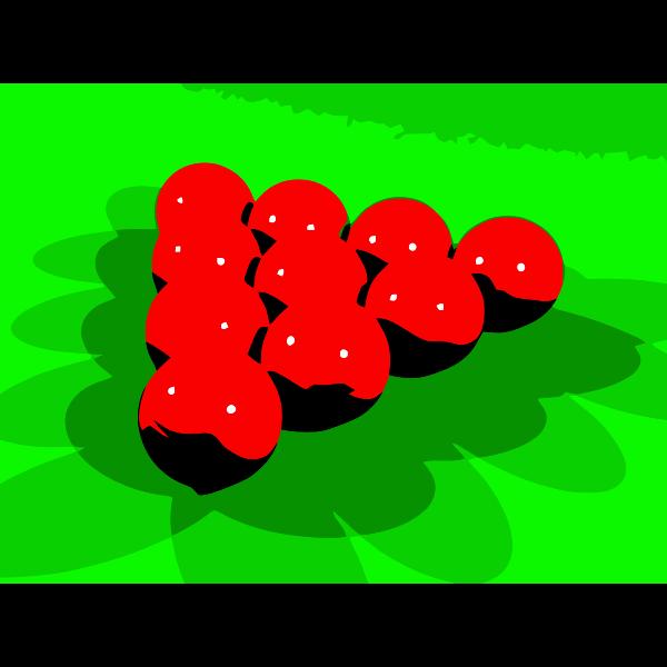 Red snooker balls vector clip art