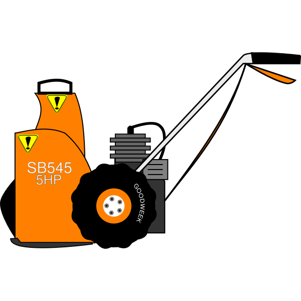 Vector drawing of electric snow blower