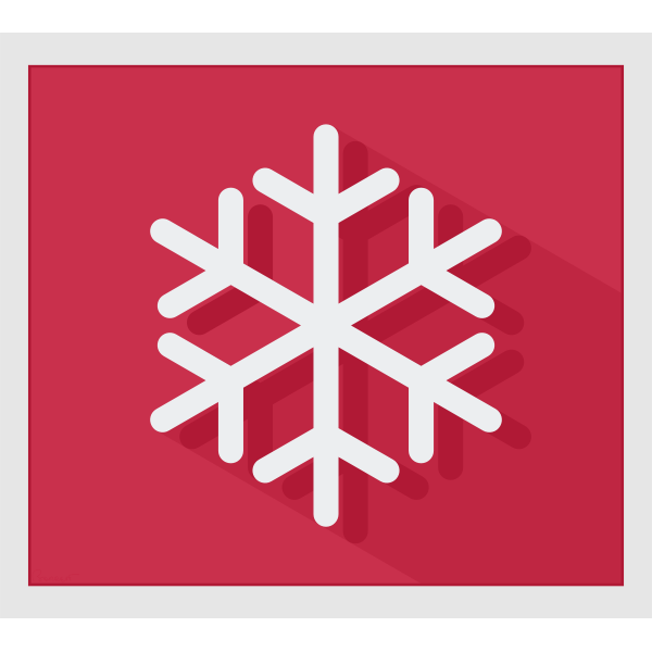 Vector image of modern snowflake on pink background