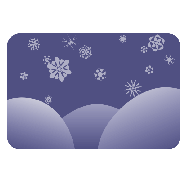 Simple winter vector background