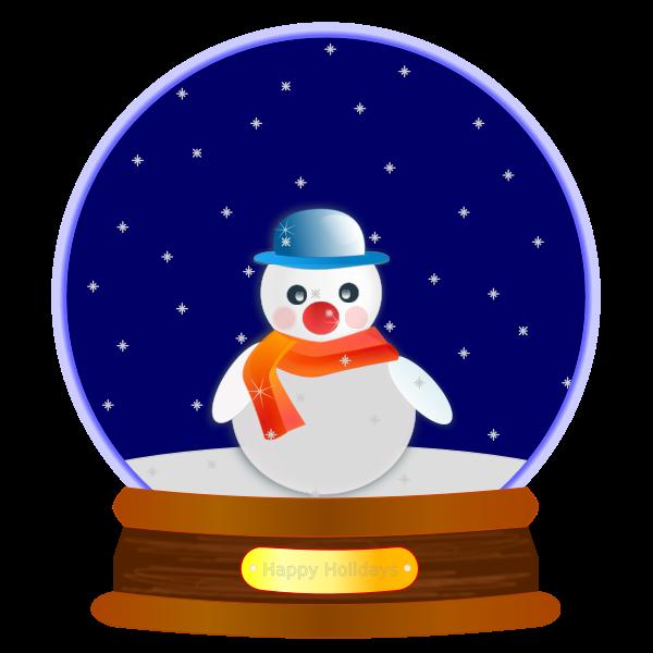 Vector clip art of snowman globe ornament