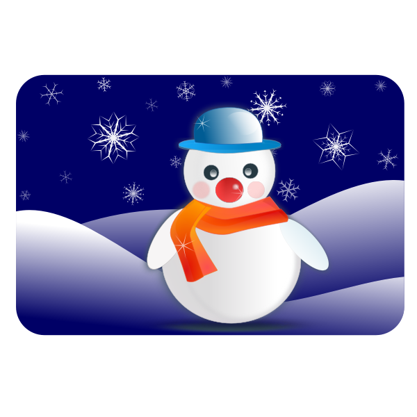 Glossy snowman vector graphics