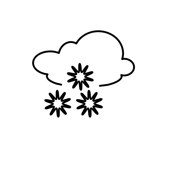 Outline weather forecast icon for snow vector illustration