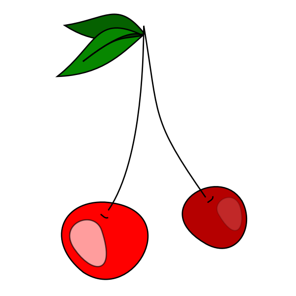 Cherries vector clip art