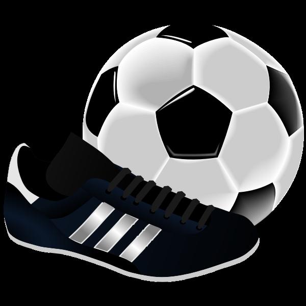 Soccer equipment vector illustration