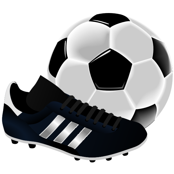 Soccer equipment vector illustration