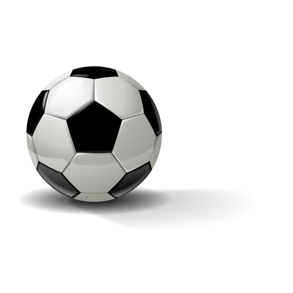 Vector illustration of photorealistic soccer ball