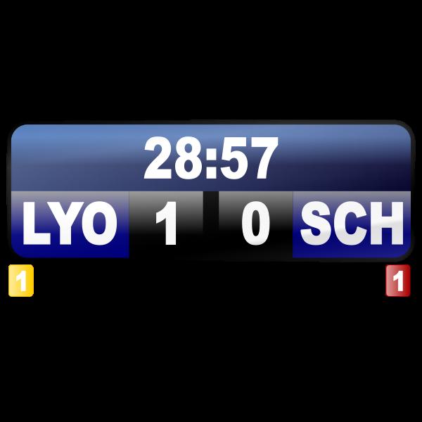 Sport score display vector image
