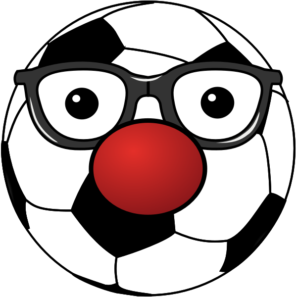 Clown soccer ball vector drawing