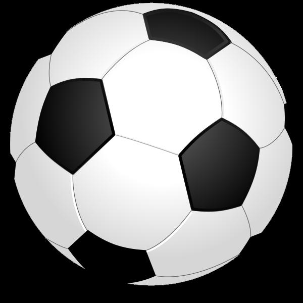 Vector graphics of shiny soccer ball