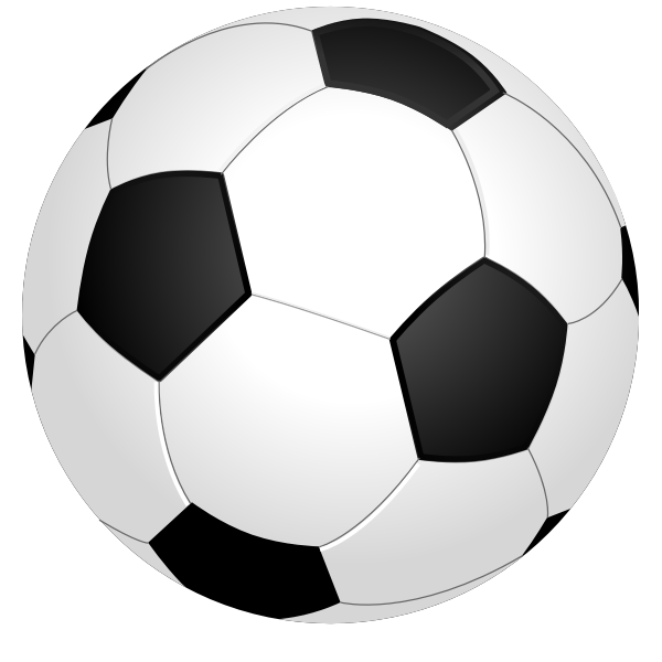 Vector graphics of shiny soccer ball