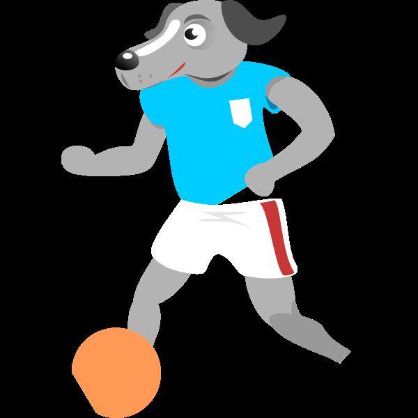 Soccer dog vector image