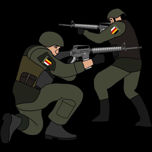 Soldiers in battle