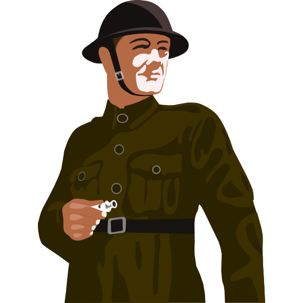 Vector clip art of British soldier